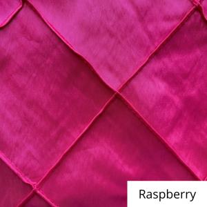 raspberry wide pintuck linen