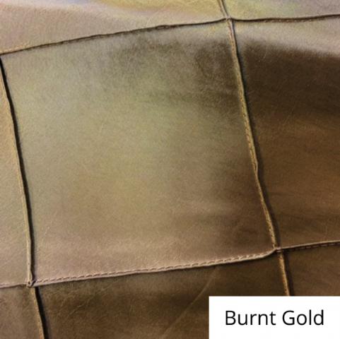 burnt gold wide pintuck linen
