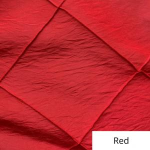 red wide pintuck linen