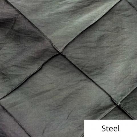 Steel wide pintuck linen
