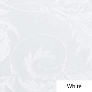 White Melrose Damask Linen