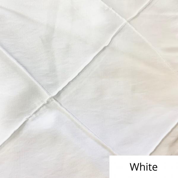 white wide pintuck linen