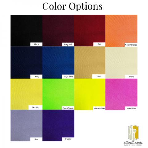 Spandex Color Options