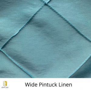 Wide Pintuck Linen Rental