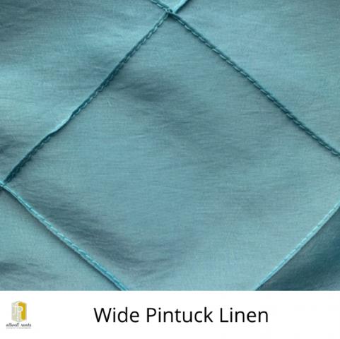 Wide Pintuck Linen Rental