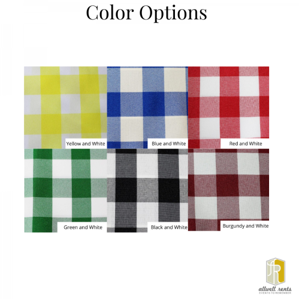 Checked Linen Color Options