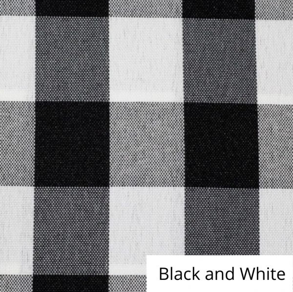 Black and White Checked Linen