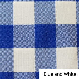 Blue and White Check Linen