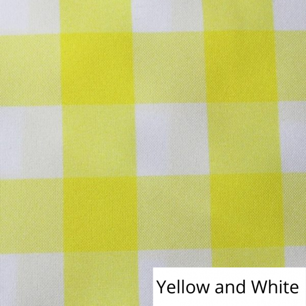 Yellow and White Check Linen