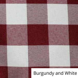 Burgundy and White Check Linen
