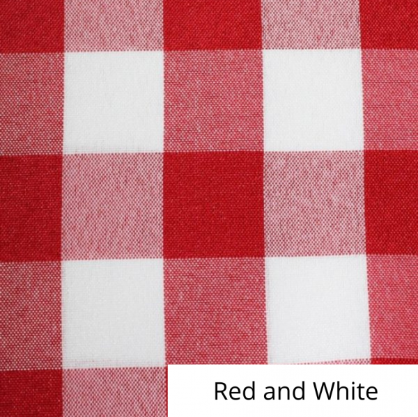 Red and White Checked Linen