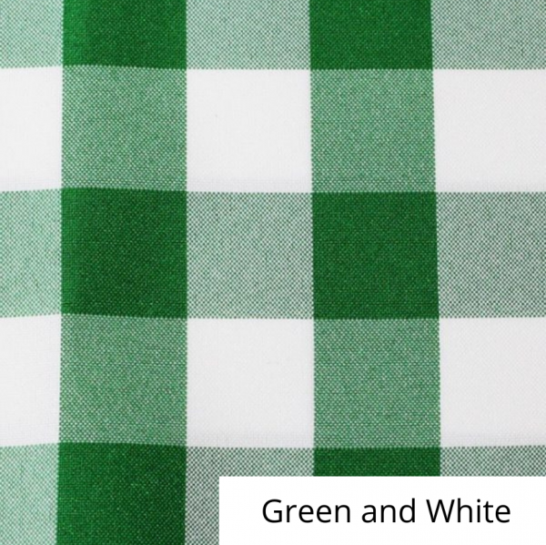 Green and White Checked Linen