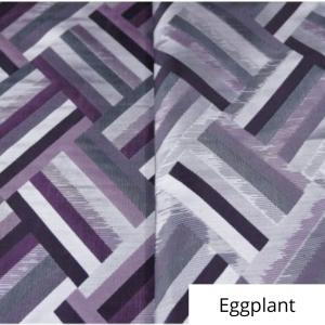 Eggplant Broadway Jacquard