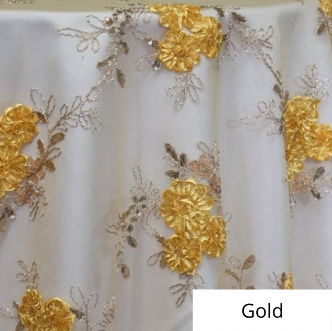 Gold Ribbon Lace