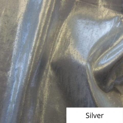 Silver Lame Linen