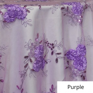 Purple Ribbon Lace