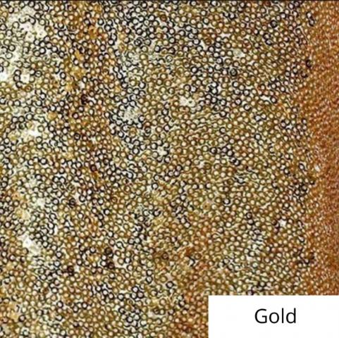 Gold Sequin Linen