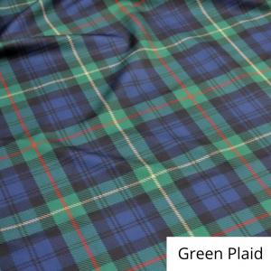 Green Plaid Linen