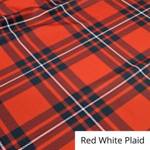 Red White Plaid Linen