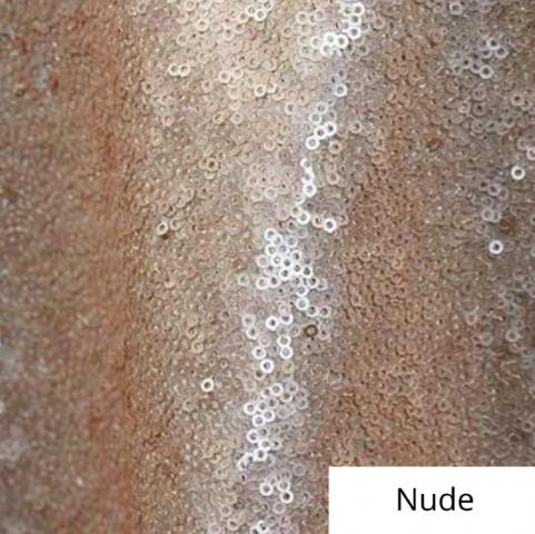 Nude Sequin Linen