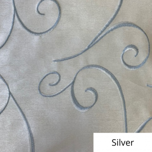 Silver Silk Swirl Linen