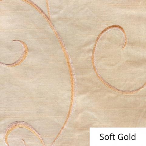 Soft Gold Silk Swirl Linen