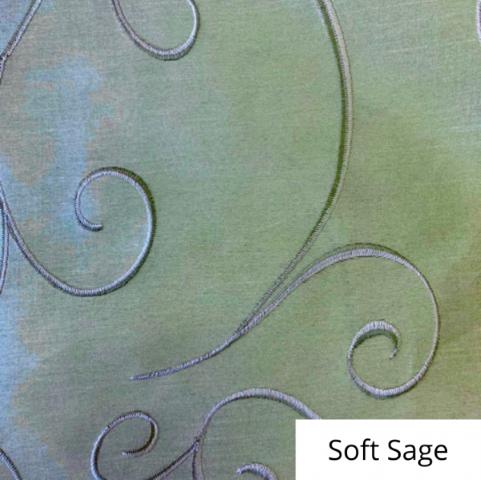 Soft Sage Silk Swirl Linen