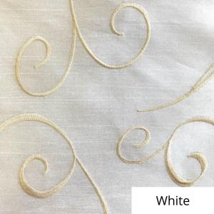 White Silk Swirl Linen