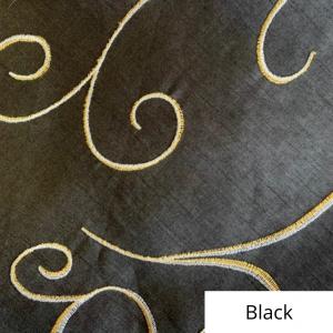 Black Silk Swirl Linen