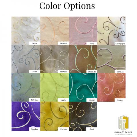 Silk Swirl Color Options