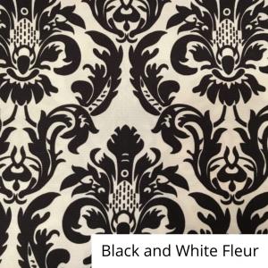Black and white fleur